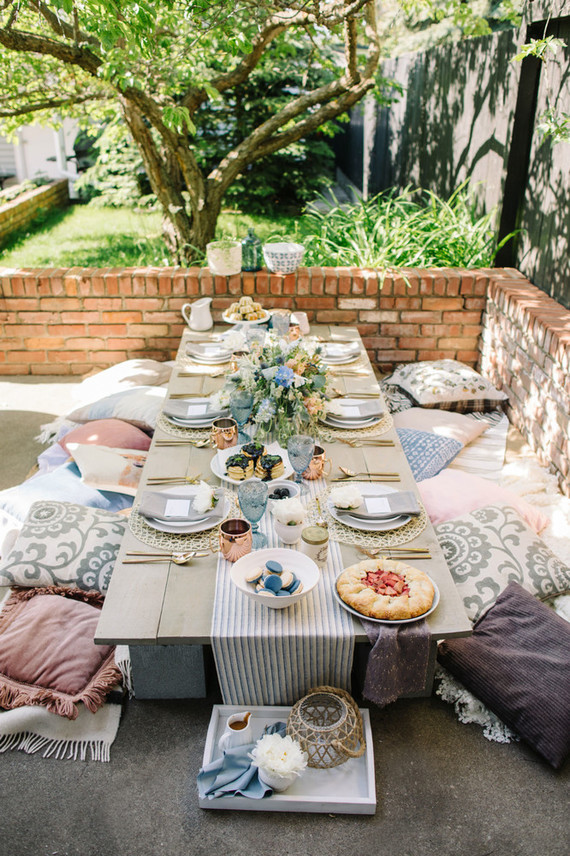 Wedding / Event Tablescape: Rustic Country Farm Table in
