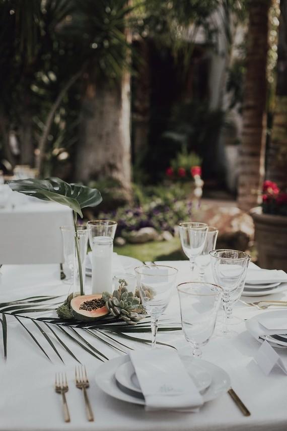 Tropical Palm Springs Wedding Wedding Party Ideas 100 Layer Cake