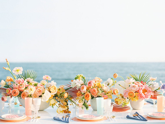 Coastal wedding decor