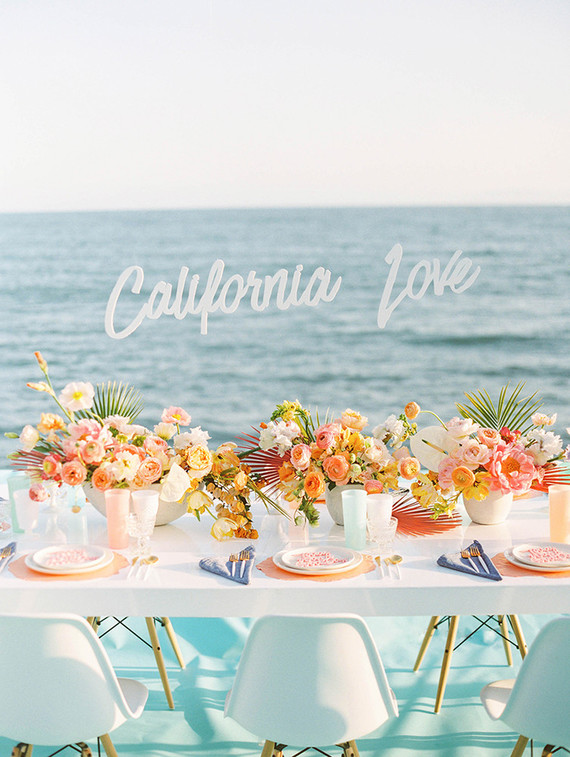 Whimsical California coast wedding inspiration
