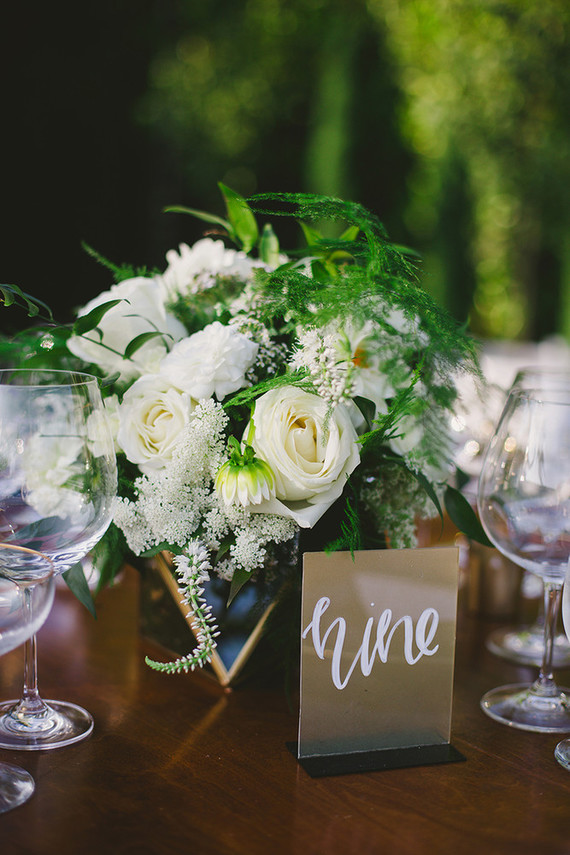 Modern white floral arrangement