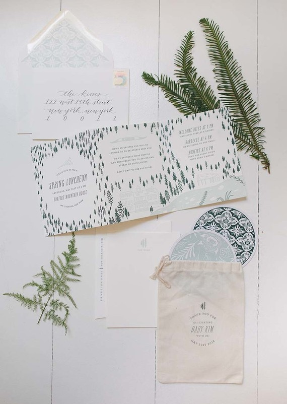 rustic, simple baby shower invites