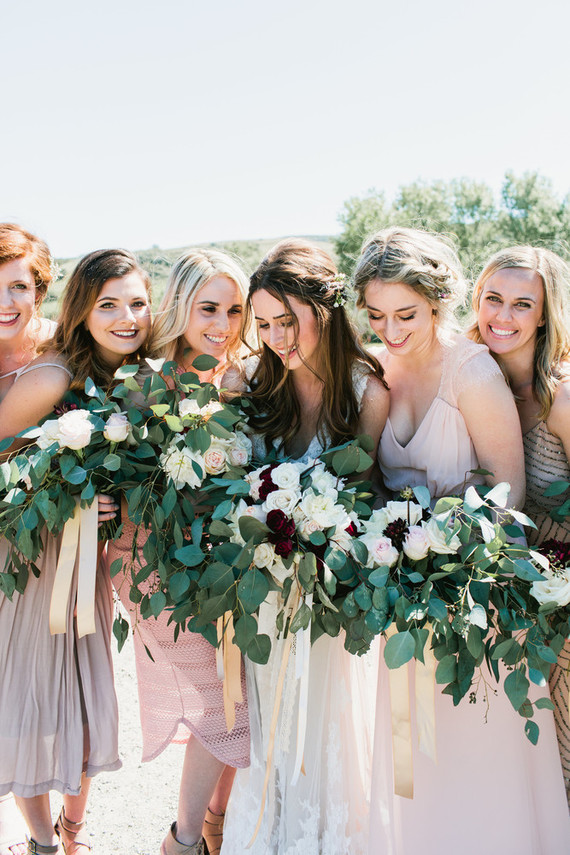 blush and cream bridesmaids