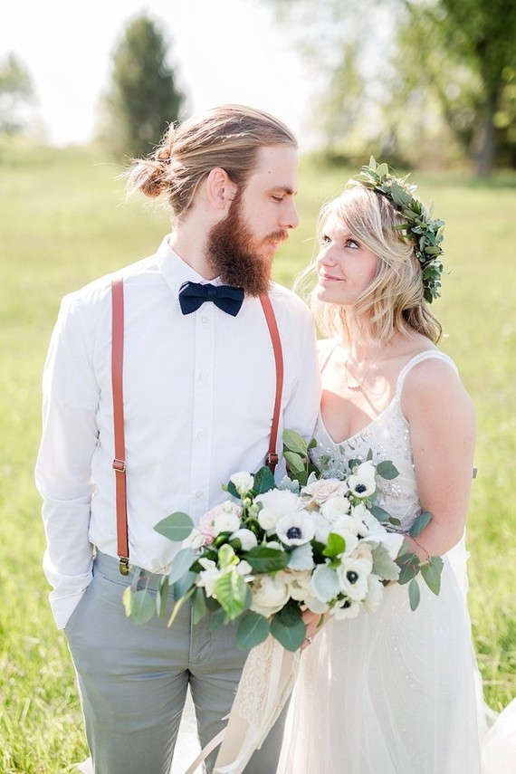rustic summer wedding in a field