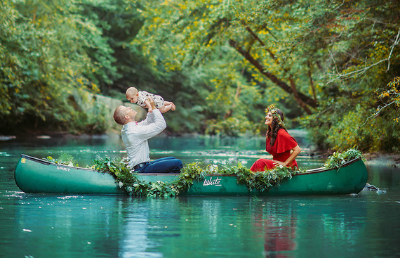 Canoe fall family photos