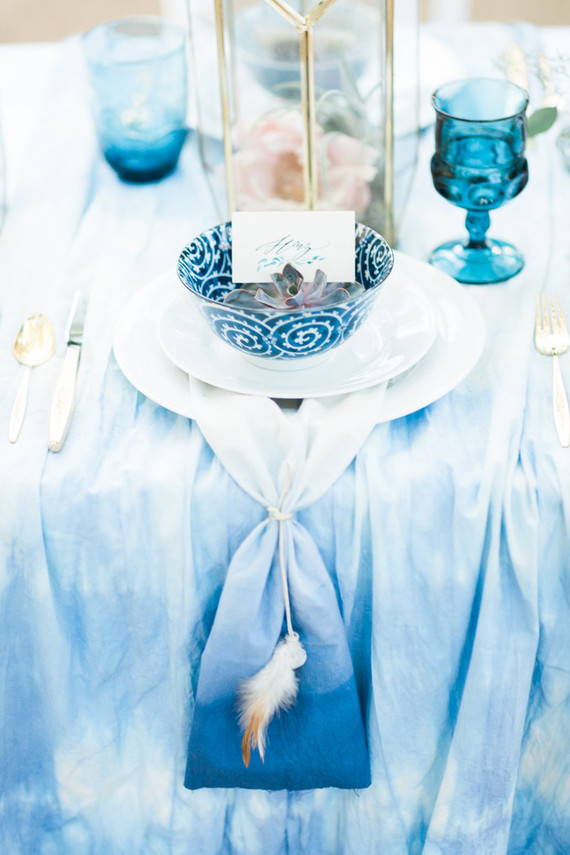 Indigo dyed wedding