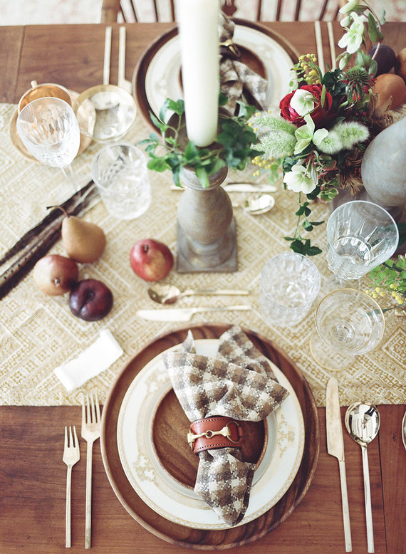 Fall table styling