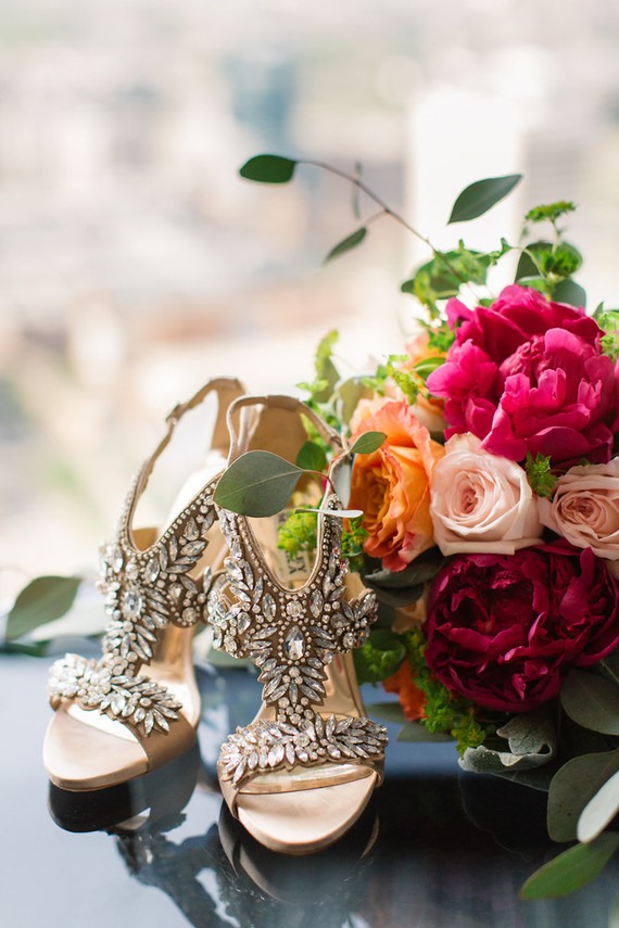 Glamorous wedding shoes