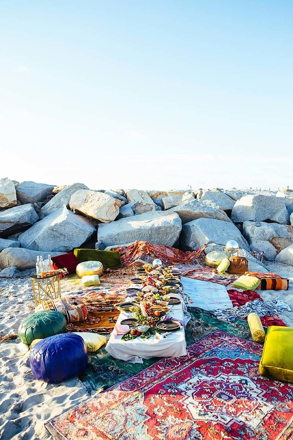 beachside fall picnic
