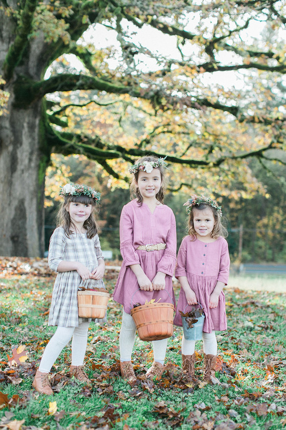 Fall flower girls