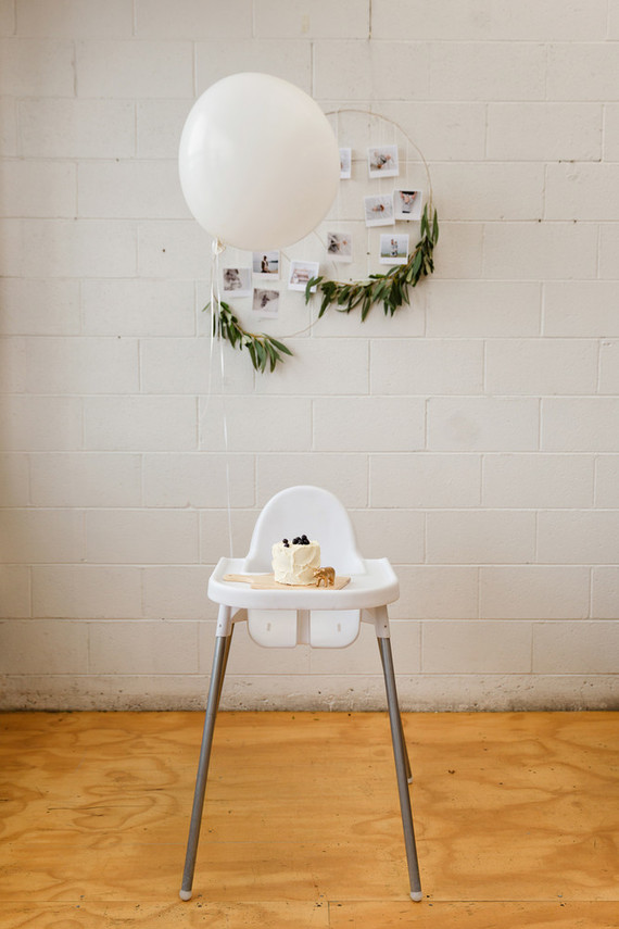 Sweet simple boy's 1st birthday party