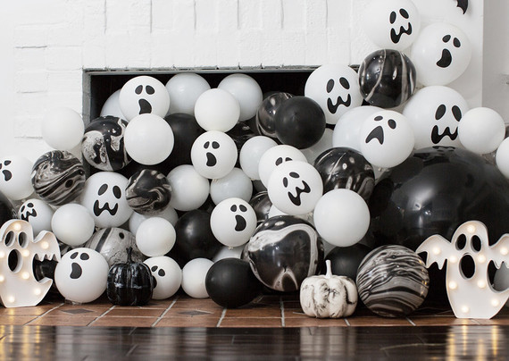 Black and white halloween party