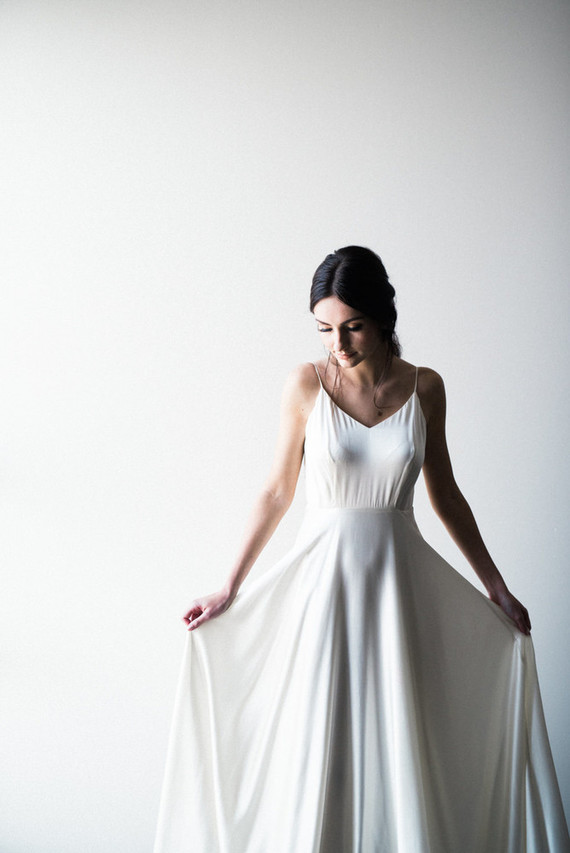 Modern Sarah Seven wedding dress