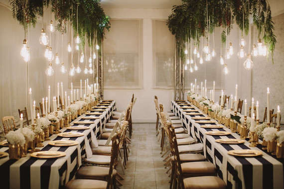 Magical wedding lighting