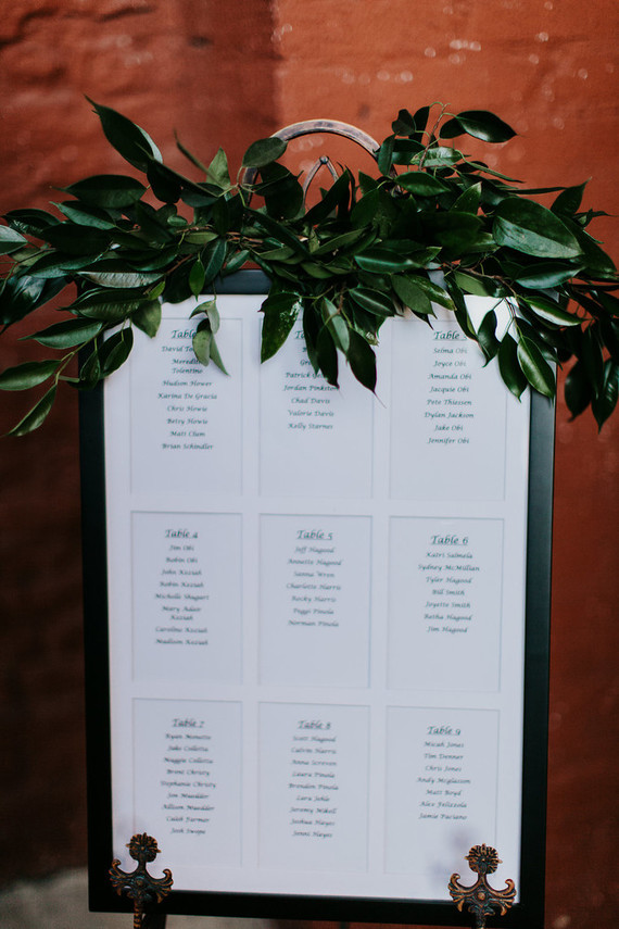Modern garden inspired wedding