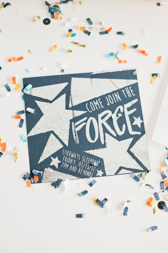 star wars party invite