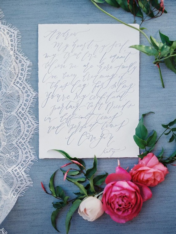 Romantic wedding calligraphy