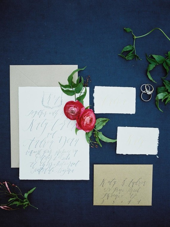 Calligraphy wedding invitations