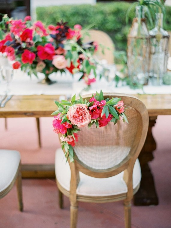 Floral wedding chair