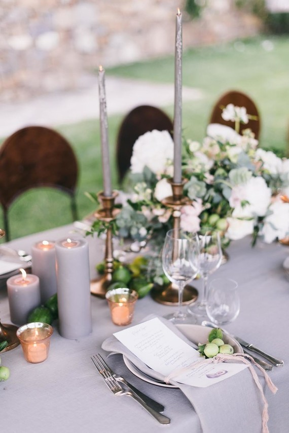 Tuscan villa wedding table