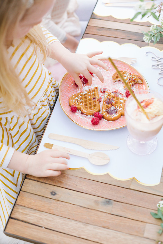 Floral valentine's day brunch for kids