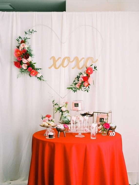 Valentine S Day Dessert Table Inspiration Wedding