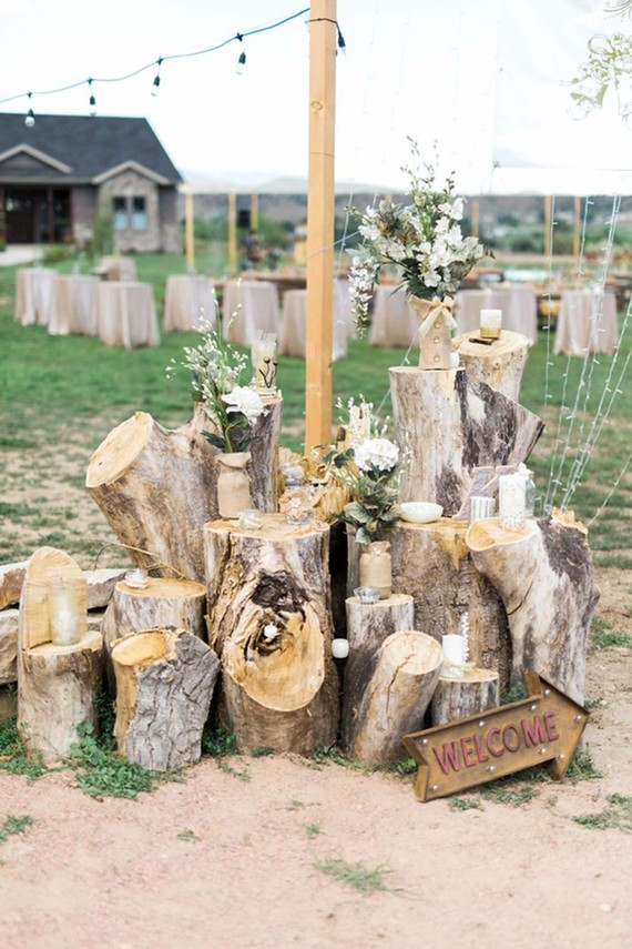 Rustic homespun Colorado wedding