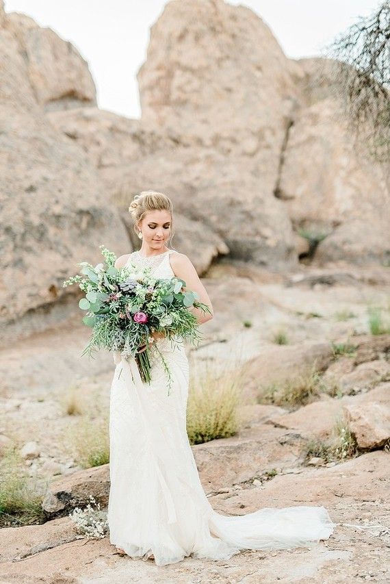 Green bridal bouquet