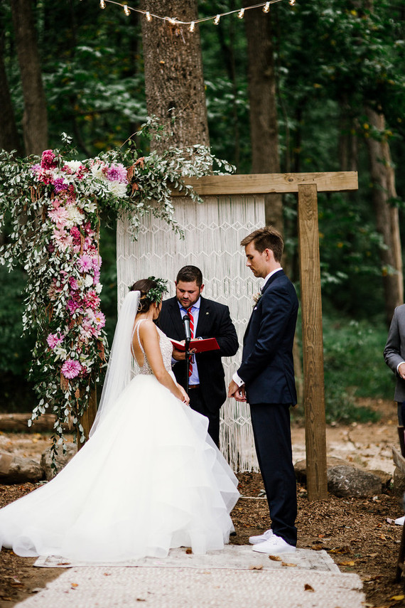 Bohemian wedding ceremony