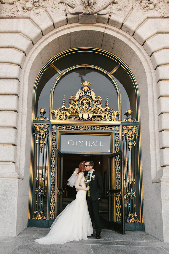 San francisco city hall elopement wedding party ideas for City hall wedding ideas