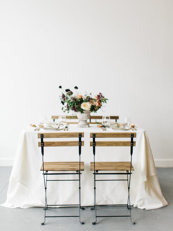 Minimal, organic wedding tablescape