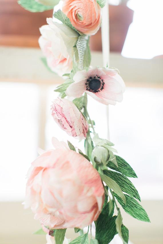 Paper flower garland wedding party ideas 100 layer cake mightylinksfo