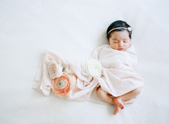 Elegant classic newborn photos