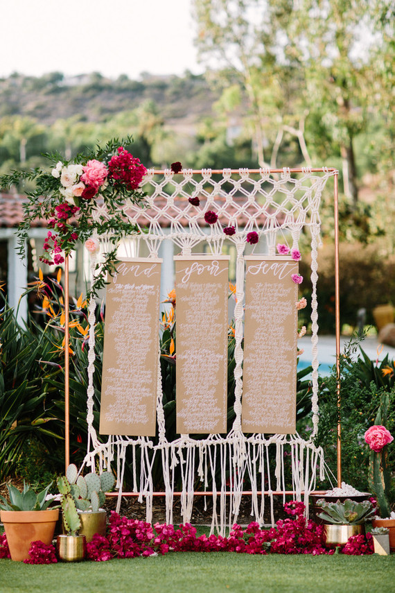 Macrame seating chart