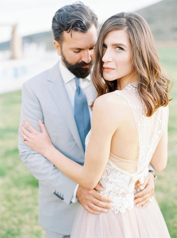 Romantic wedding portrait
