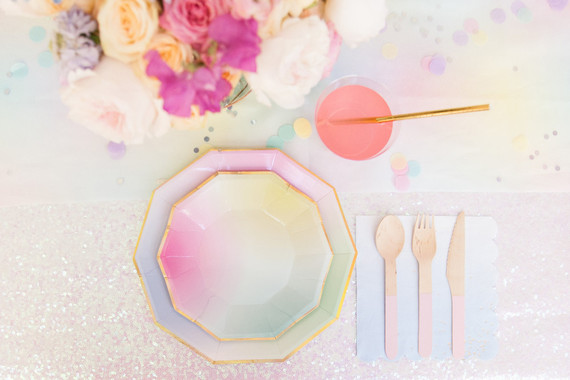 Pastel iridescent girl's birthday party