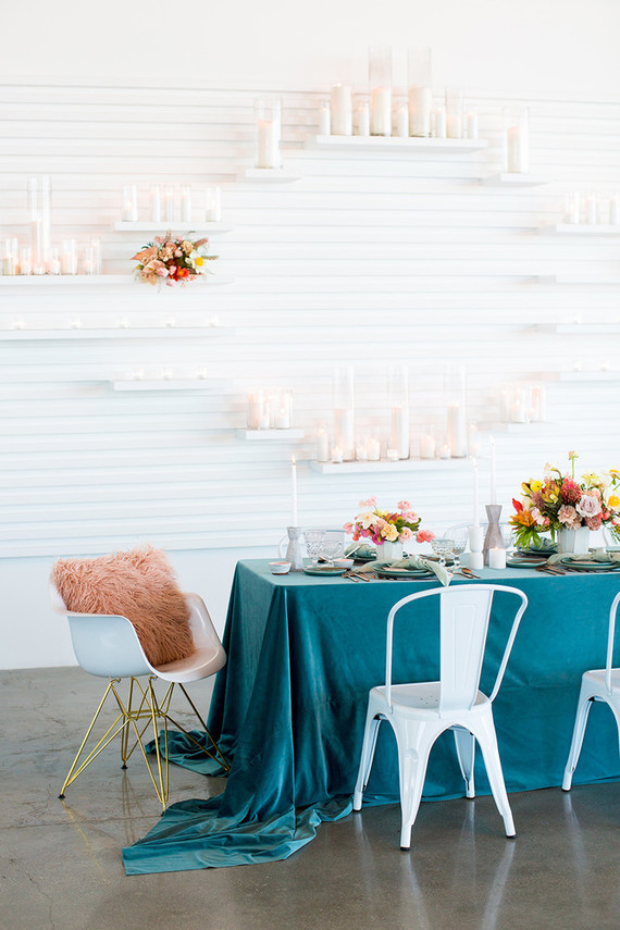 Teal tablescape