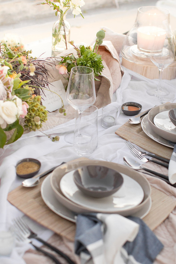 Coastal table settings