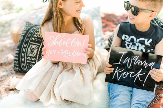 Boho rock n' roll kids birthday party