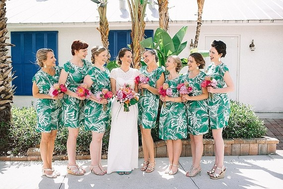 Tropical bridesmaids