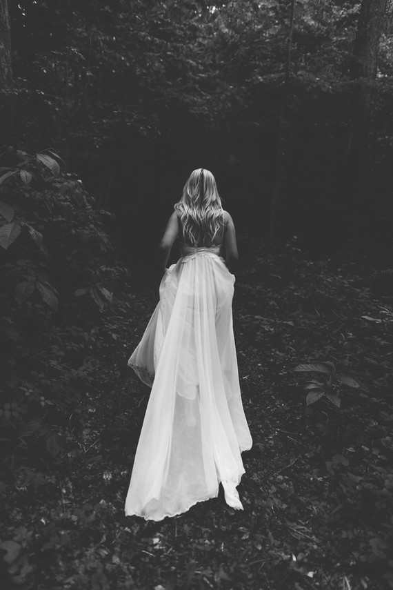dramatic bridal portraits