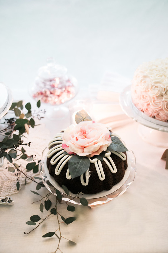 petite chocolate wedding cake