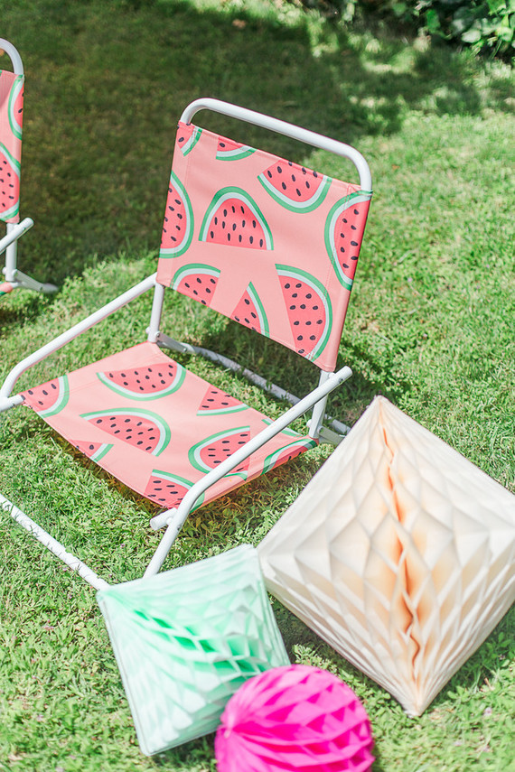 watermelon beach chair