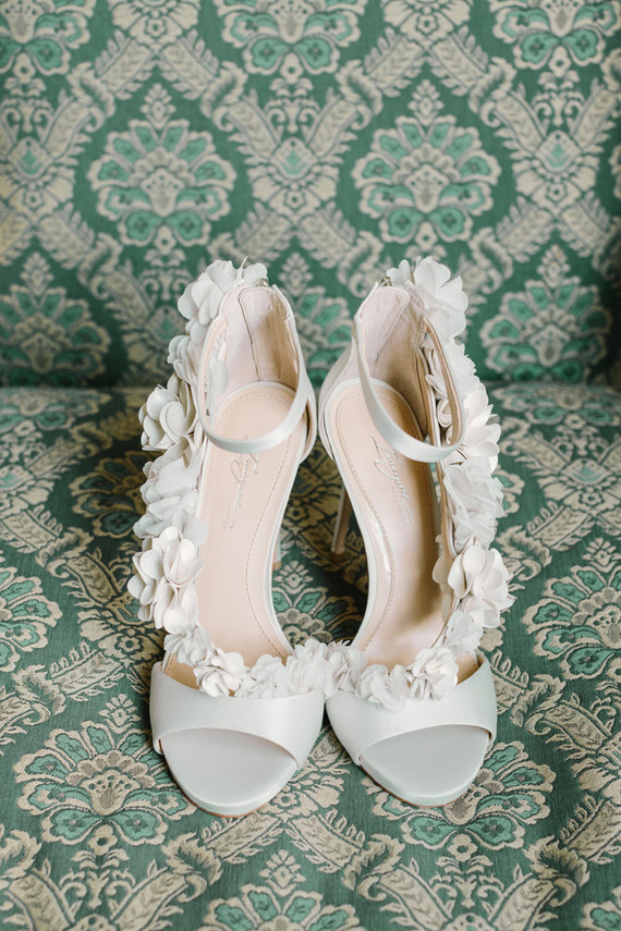 ruffled bridal shoes