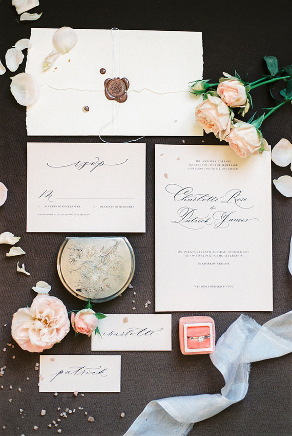french inspired wedding invites