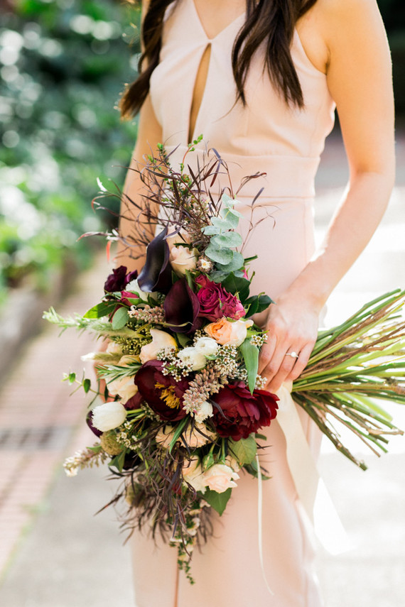 Gorgeous tree peony bouquet