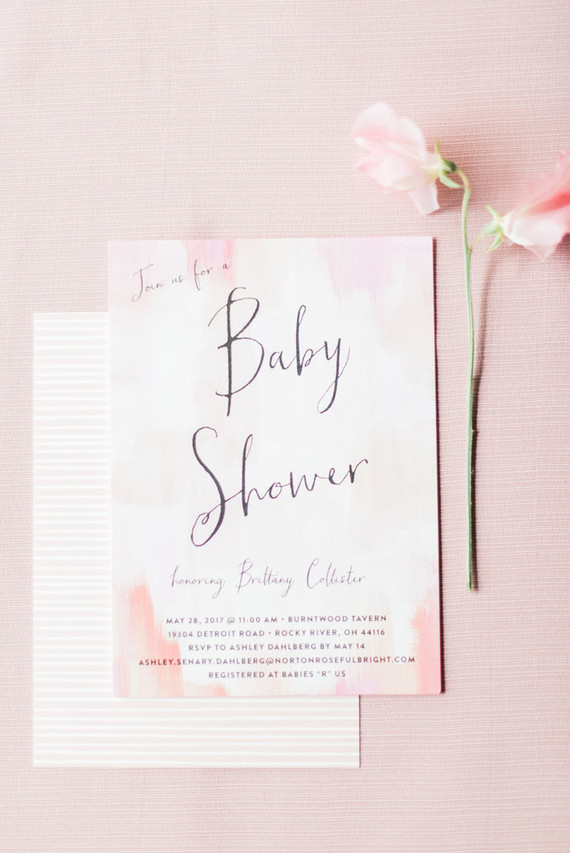 pink baby shower invites