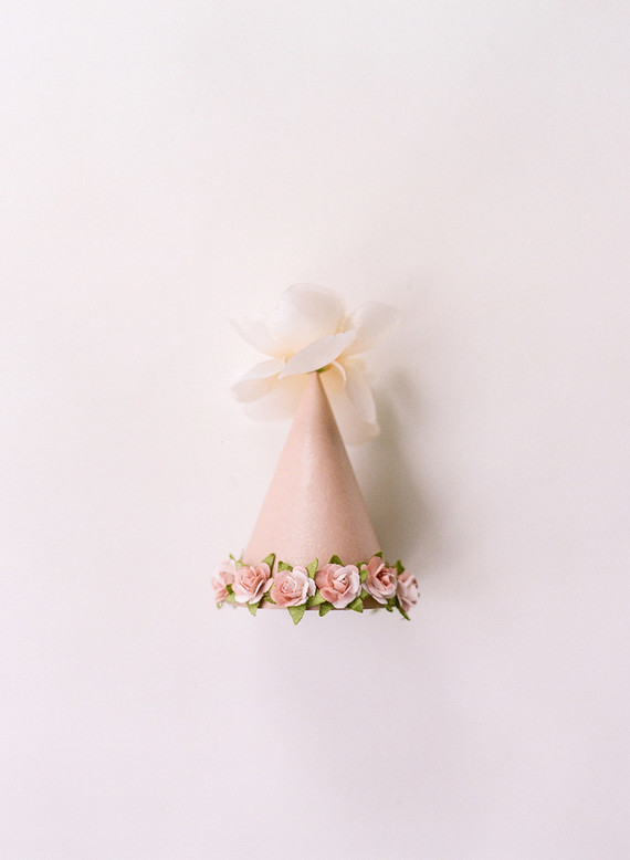 tiny floral party hat