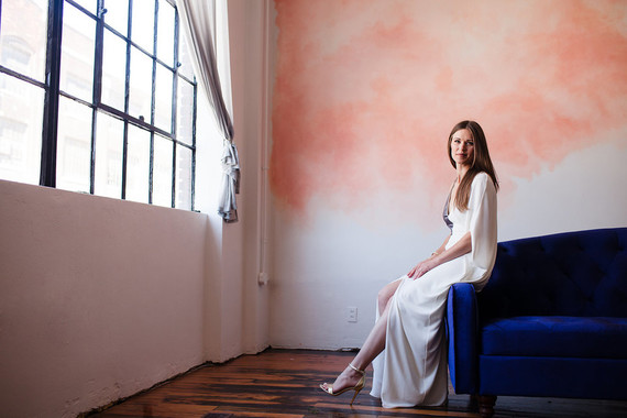 Modern alternative wedding gown