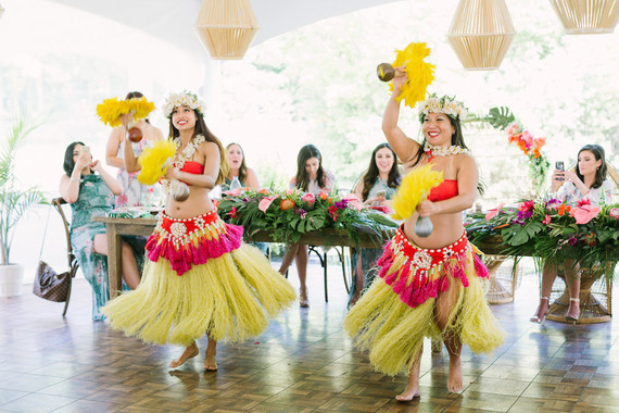 Hula dancers for bridal shower